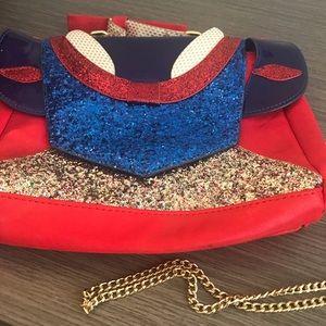 Danielle Nicole Snow White Glitter Chainlink Purse